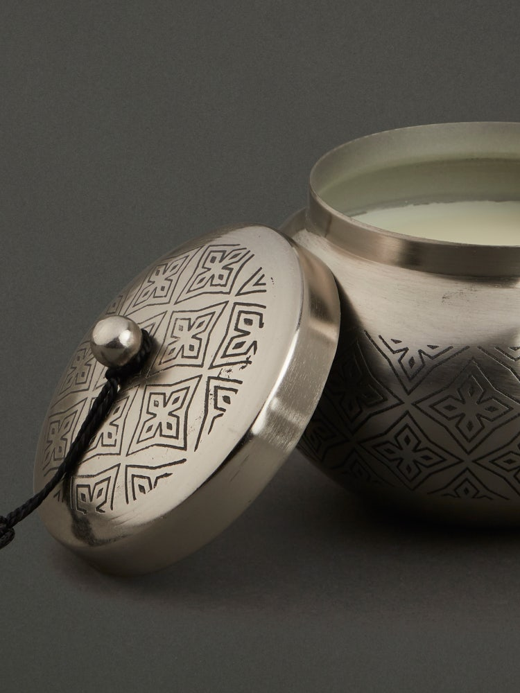 Silver Awadh Shangai Tea Lid Votive