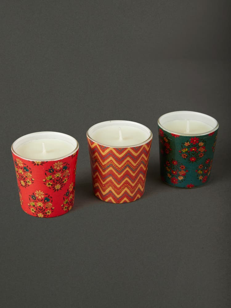 Multi Color Agora Candle Set (Set of 3)