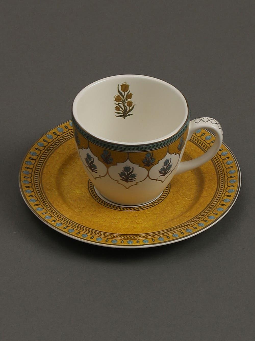 Yellow Jalmahal Tea Set (Set of 2)
