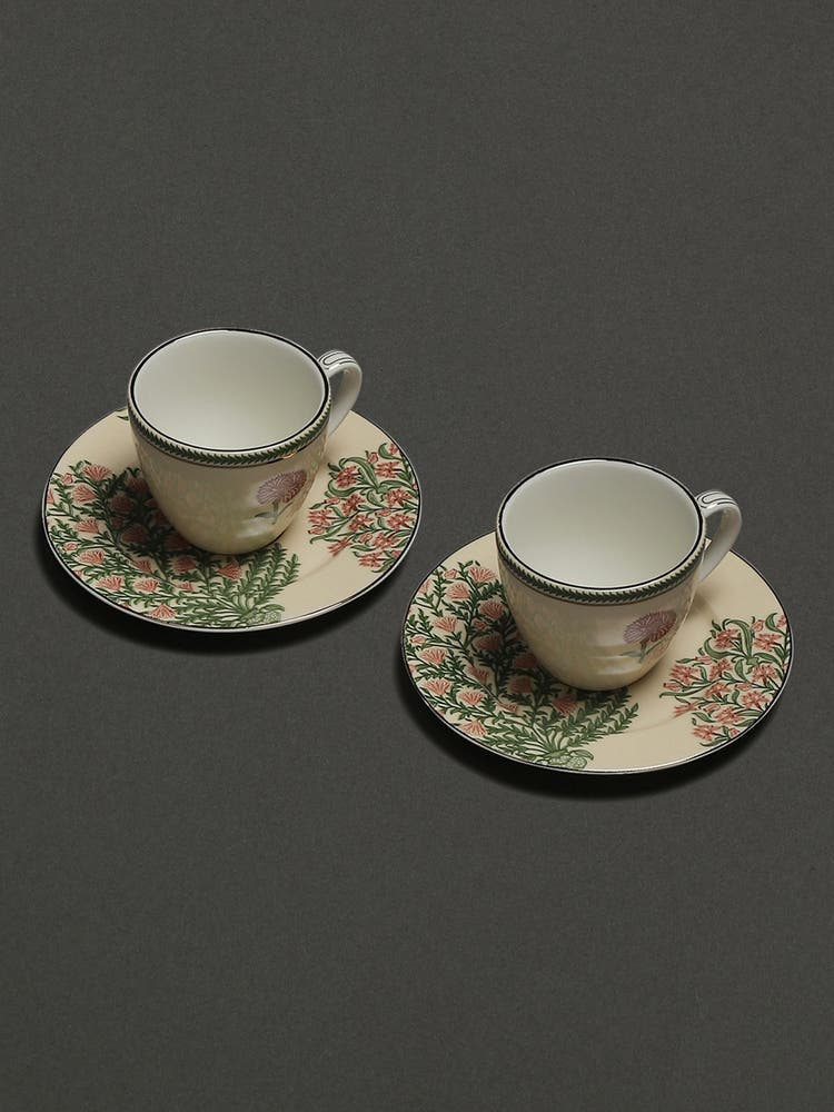 Beige Uttama Tea Set (Set of 2)
