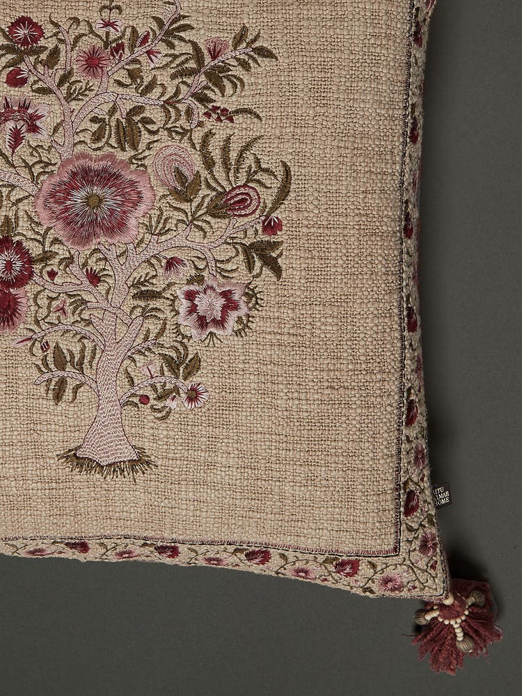 Beige & Pink Cushion with Filler