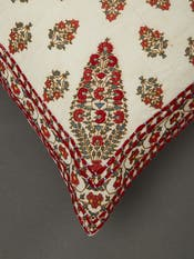Ivory Paisley Cushion with Filler