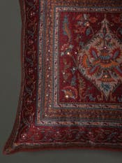 Red Embroidered Cushion with Filler