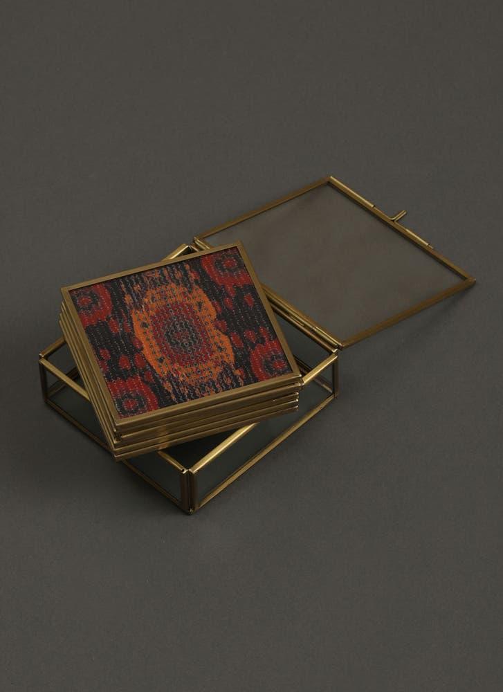 Ikkat Print Coasters (Set of 6)