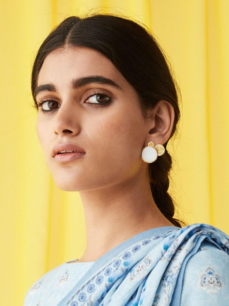 RITU KUMAR by LATIQUE Golden Viraya Earrings