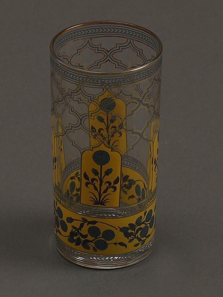 Yellow Jalmahal Glasses (Set of 4)
