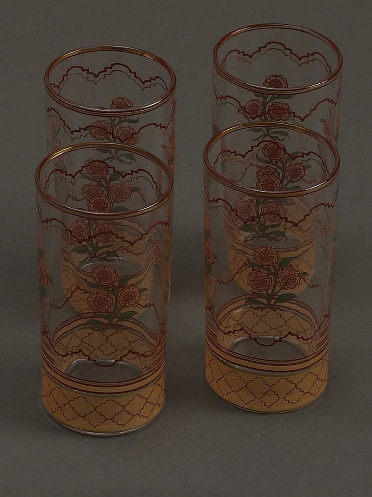 Beige Uttama Glasses (Set of 4)