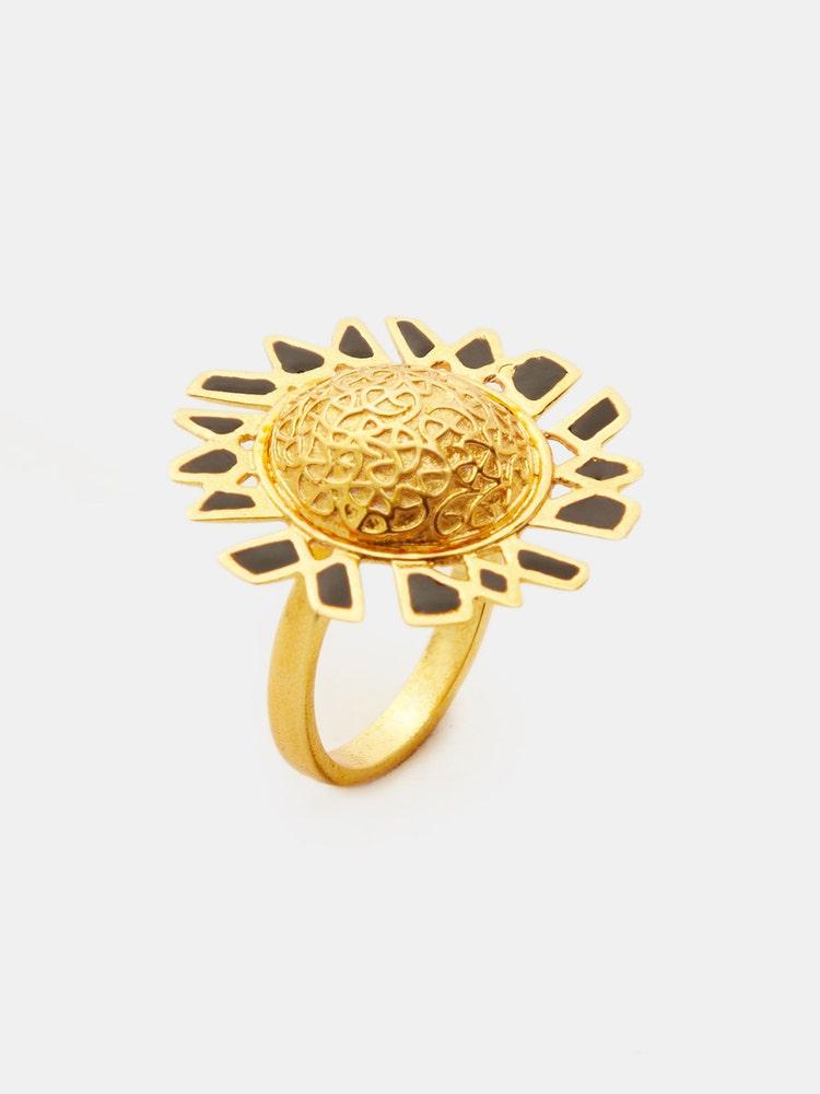 RITU KUMAR by LATIQUE Golden Elam Adjustable Ring