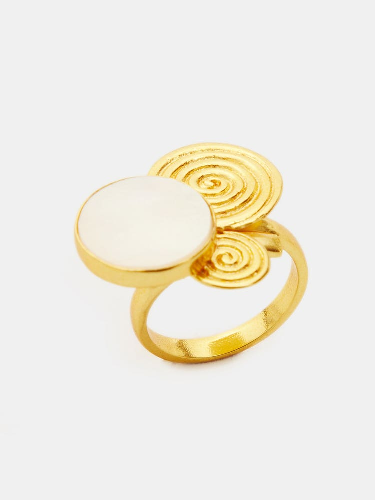 RITU KUMAR by LATIQUE Golden Viraya Adjustable Ring
