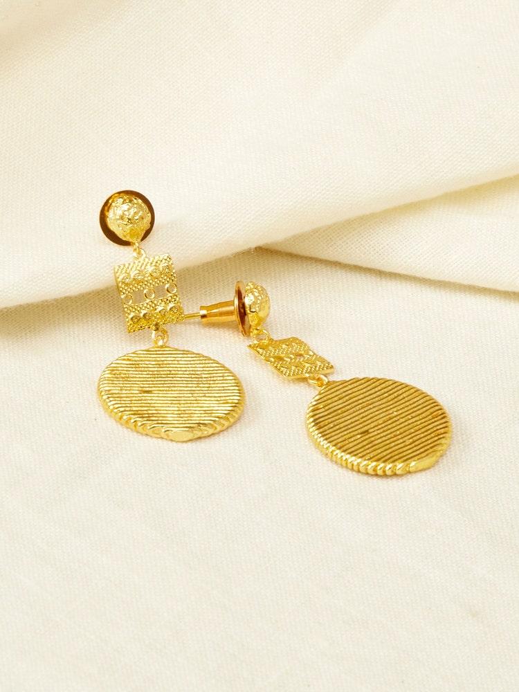 RITU KUMAR by LATIQUE Golden Amri Earrings