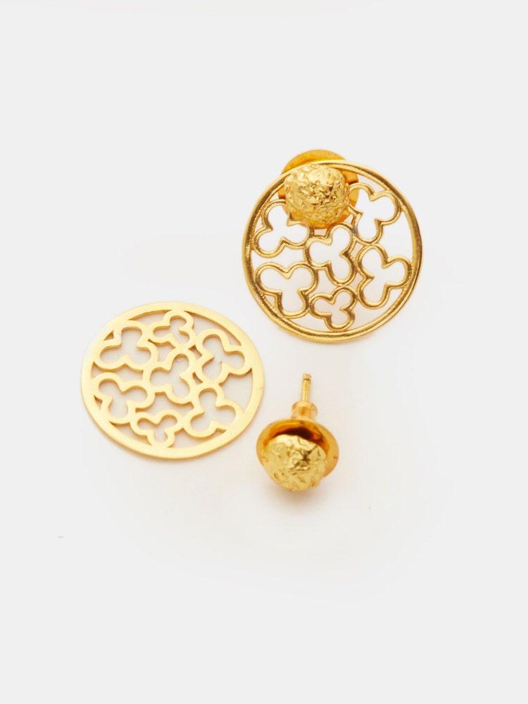 RITU KUMAR by LATIQUE Golden Shem Earrings