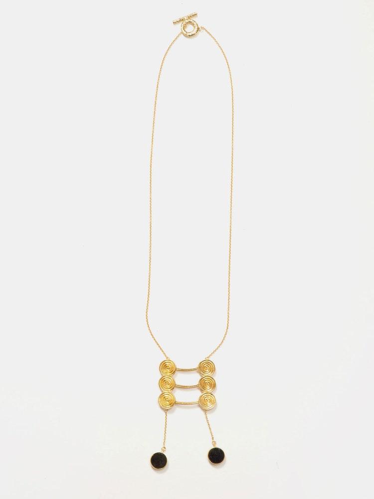 RITU KUMAR by LATIQUE Golden Zebu Necklace
