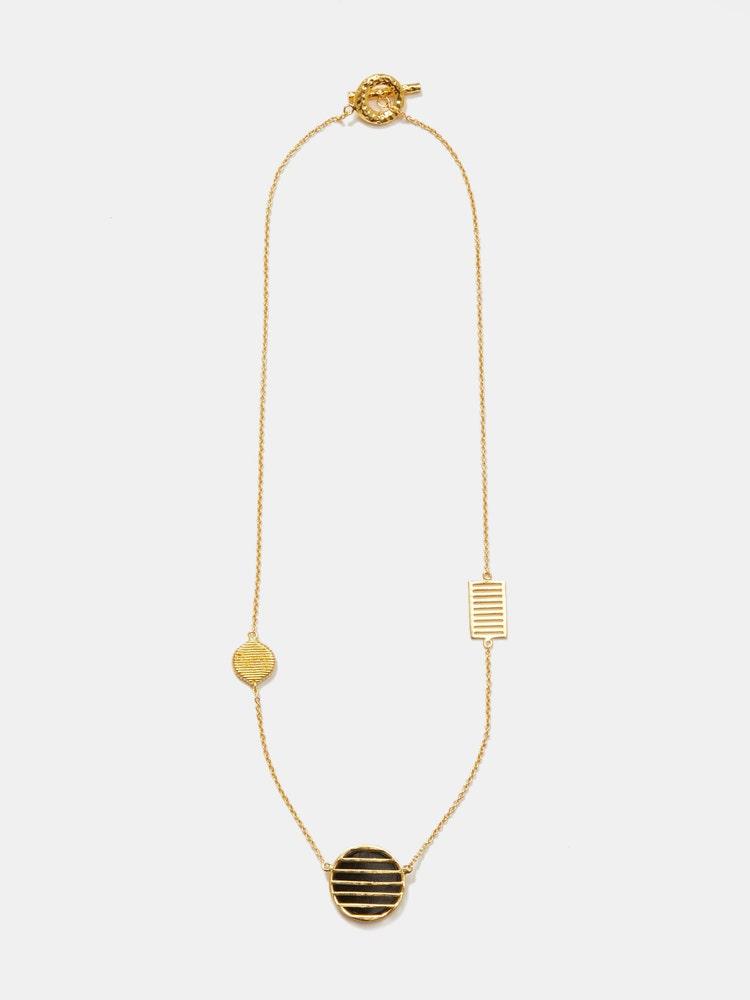 RITU KUMAR by LATIQUE Golden Noah Reversible Necklace