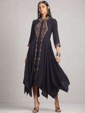 Black Embroidered Dress