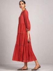 Rust Tiered Dress