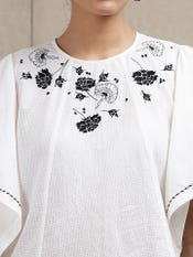 White Floral Kurti