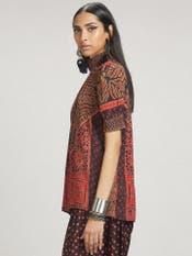 Radhika Apte in a Brown & Red Printed Kurti