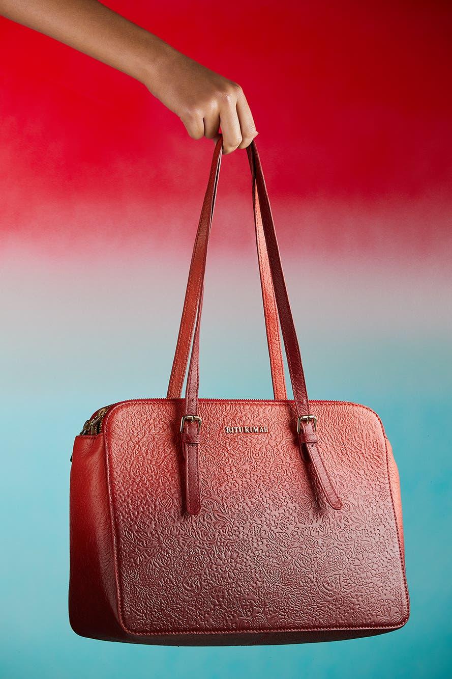 Coral Ombre Shoulder Bag