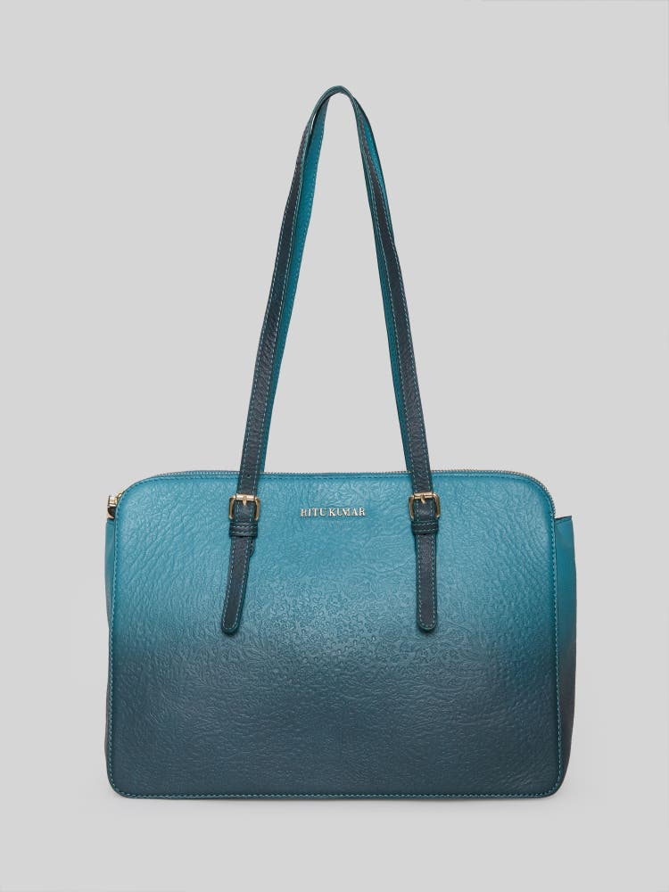 Turquoise Ombre Shoulder Bag