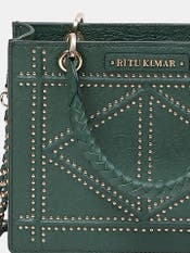 Emerald Green Leather Grab Bag