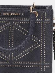 Navy Blue Leather City Bag