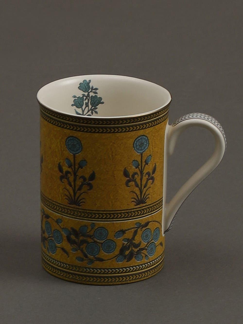 Yellow Jalmahal Mugs (Set of 2)