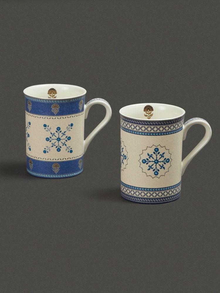 Blue Jalmahal Mug (Set Of 2)