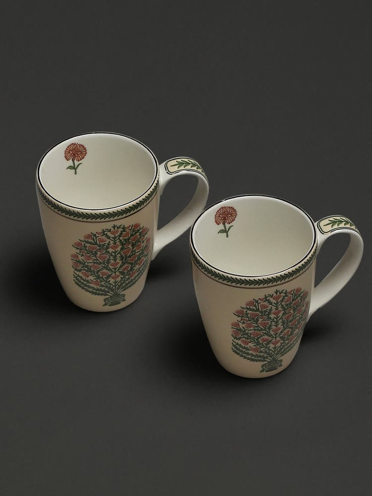 Beige Uttama Mugs (Set of 2)