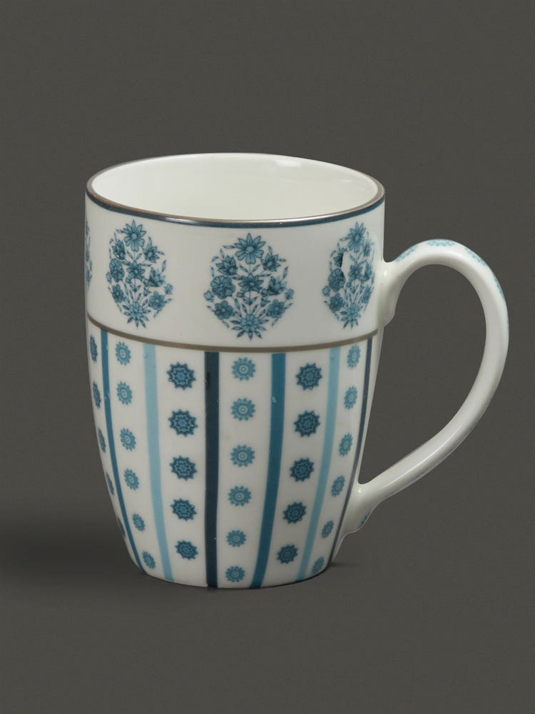 Turquoise Villa Mug (Set Of 2)