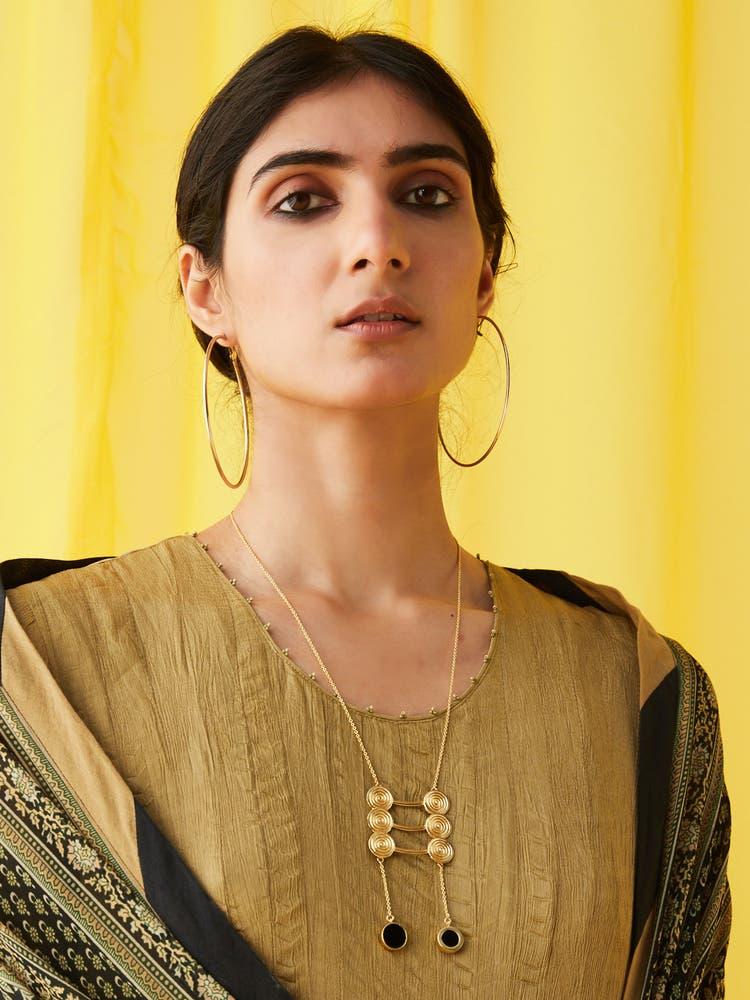 Golden Zebu Necklace