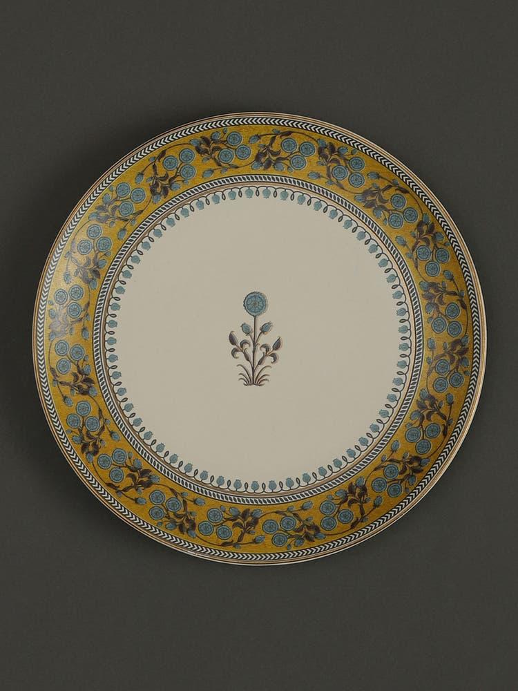 Yellow Jalmahal Dinner Plates (Set of 2)