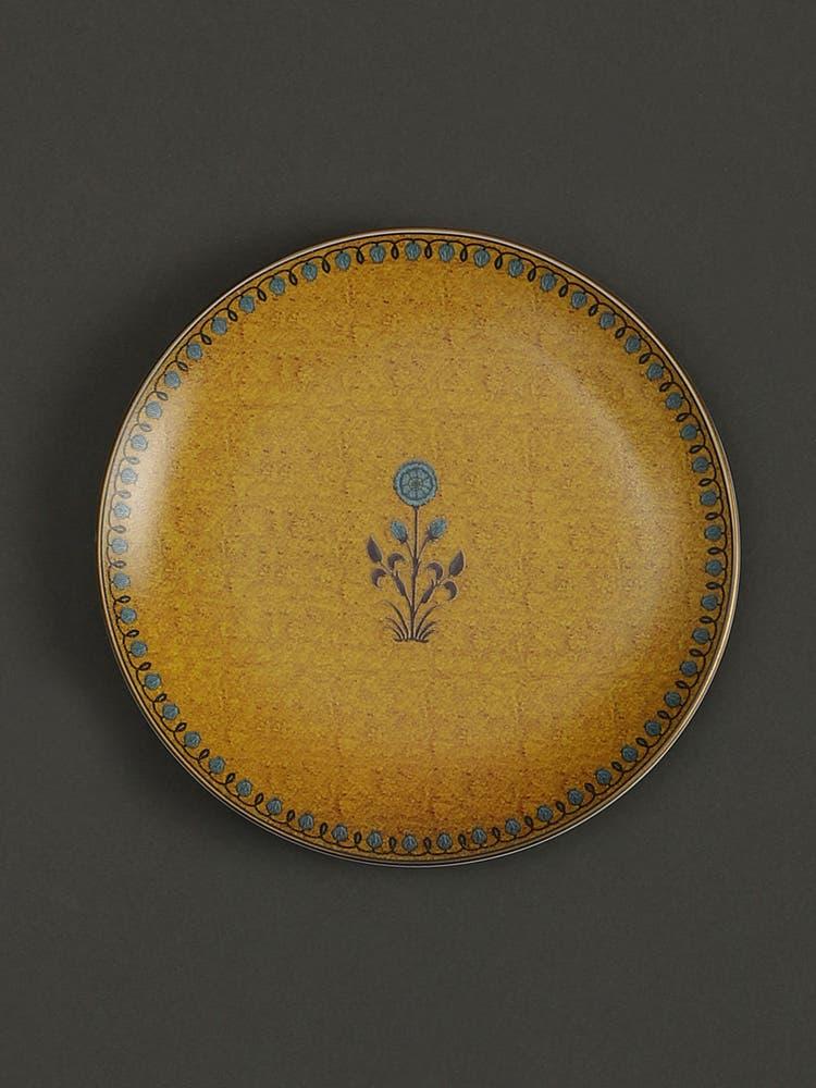 Yellow Jalmahal Side Plates (Set of 2)
