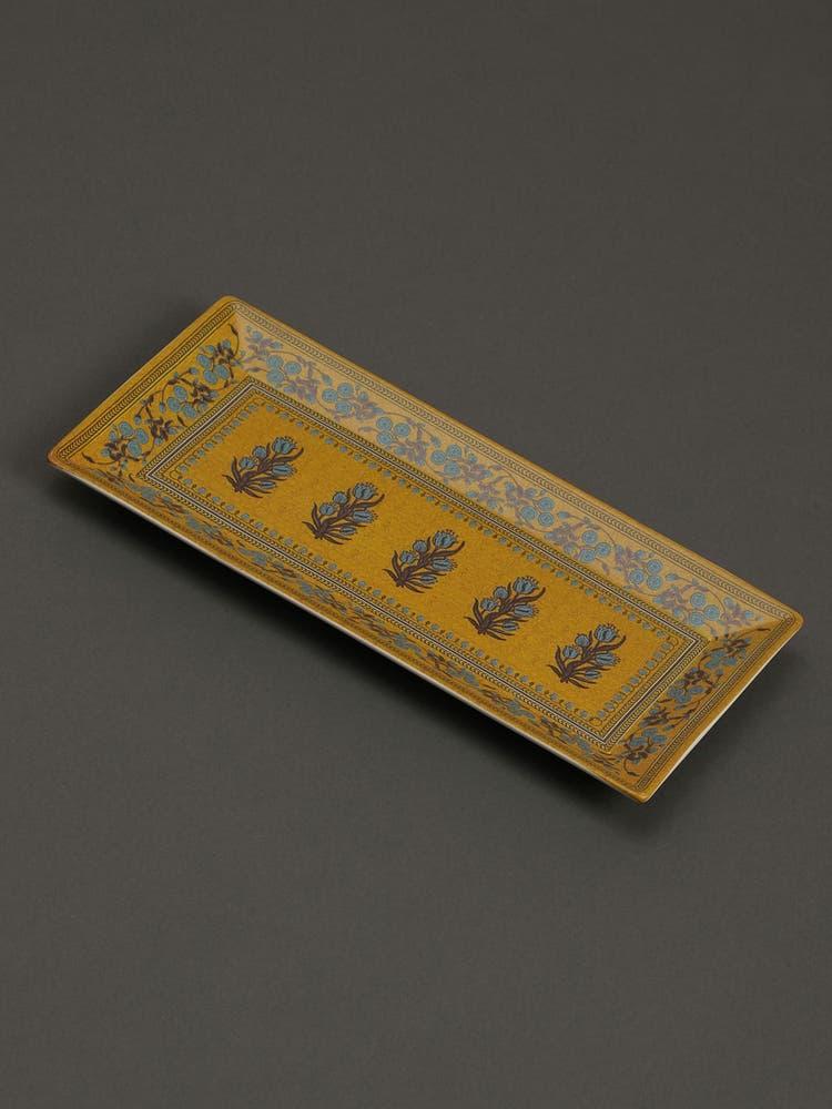 Yellow Jalmahal Serving Platter