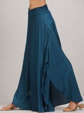 Peacock Blue Solid Palazzos