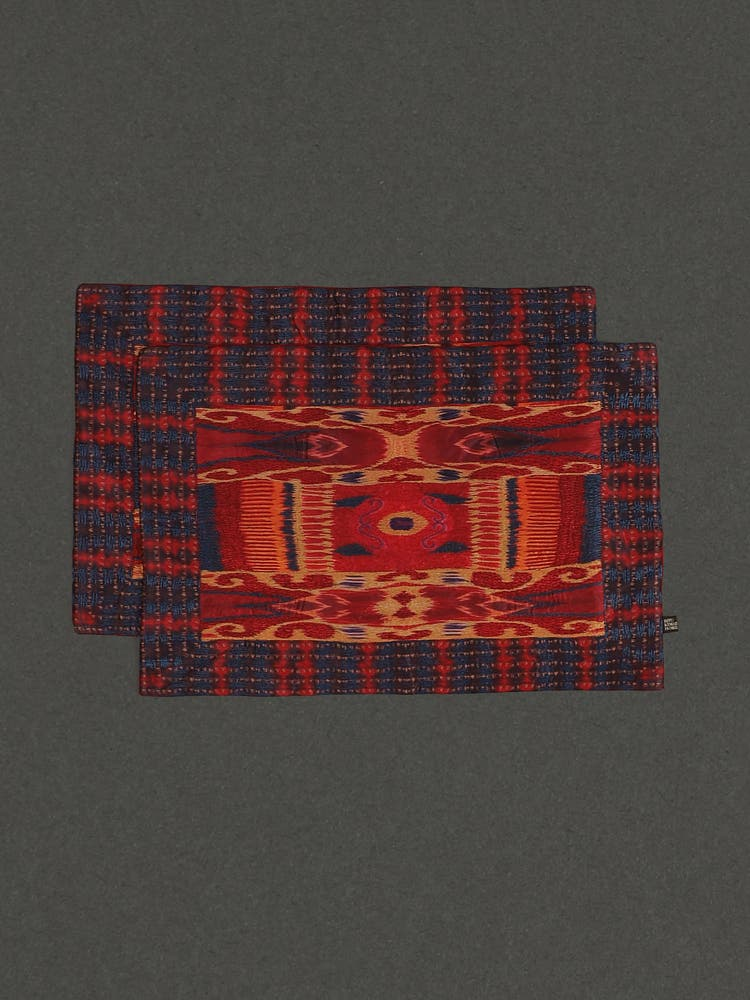 Red Ikkat Placemats (Set of 2)