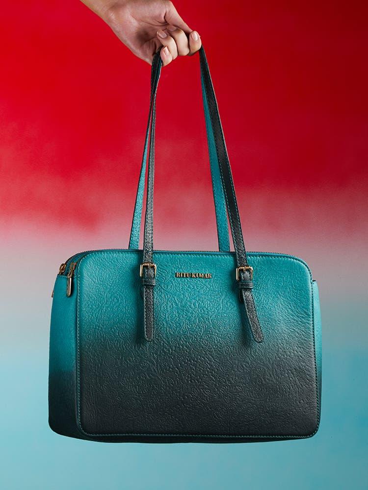 Turquoise Ombre Shoulder Bag