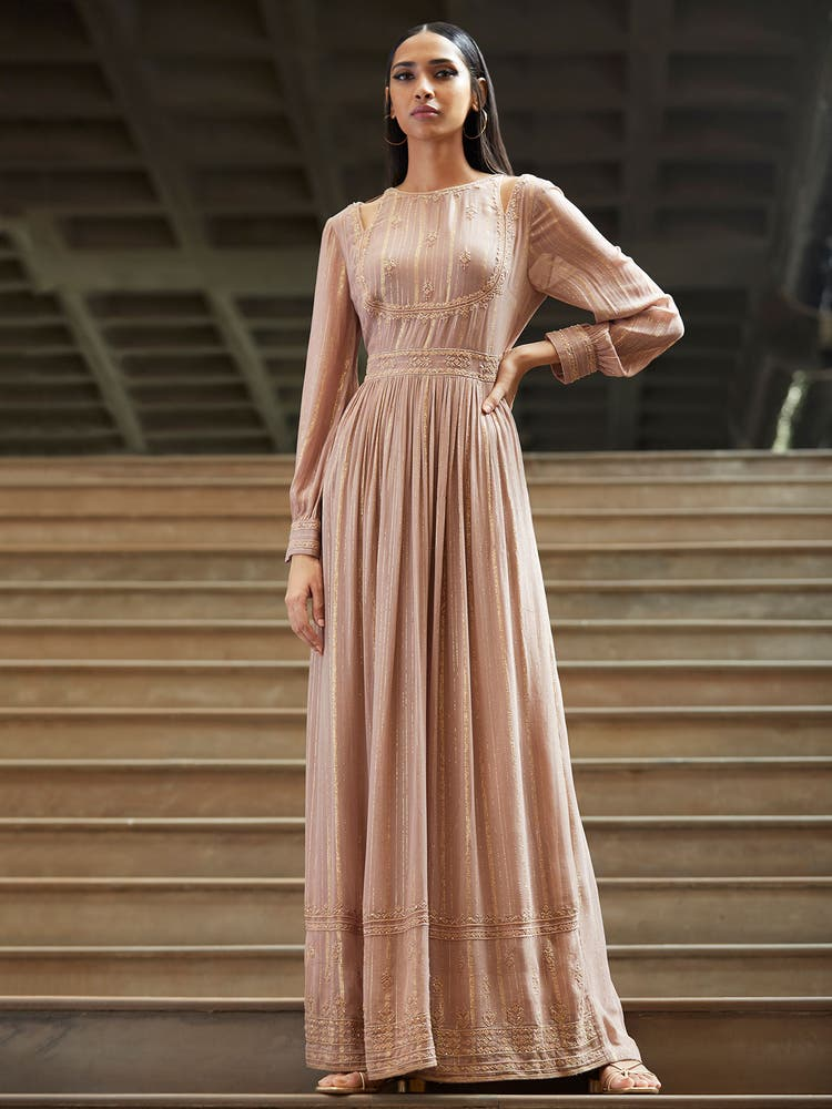 Mauve Lurex Dress