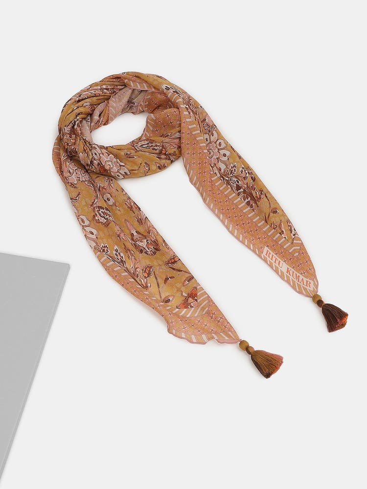 Yellow Printed Scarf