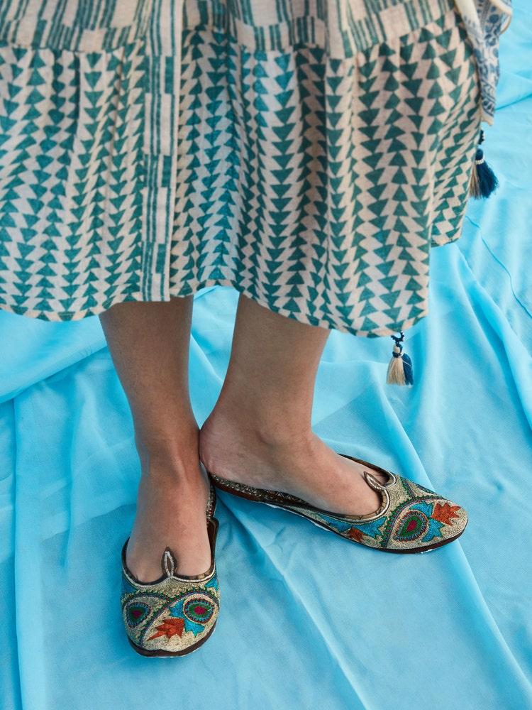 Multi Color Leather Zoya Slip-On Majari