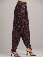 Navy Blue Printed Dhoti