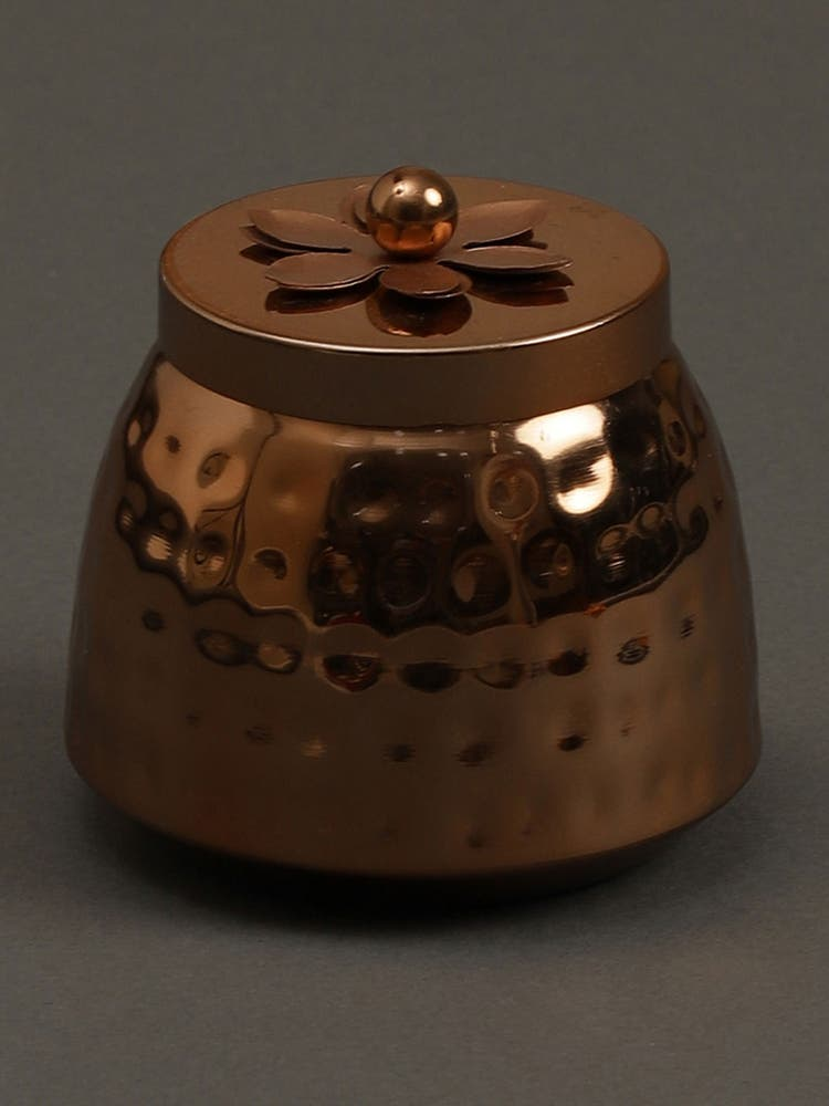 Copper Jasmine Tea Metal Votive