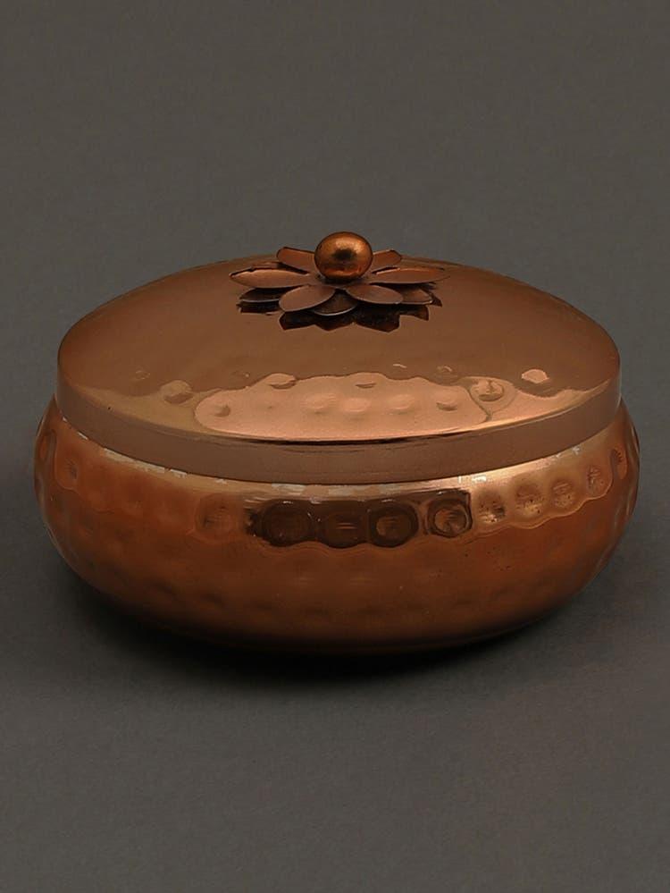 Jasmine Tea Copper Metal Votive