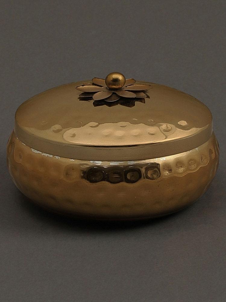Gold Mogra Metal Votive