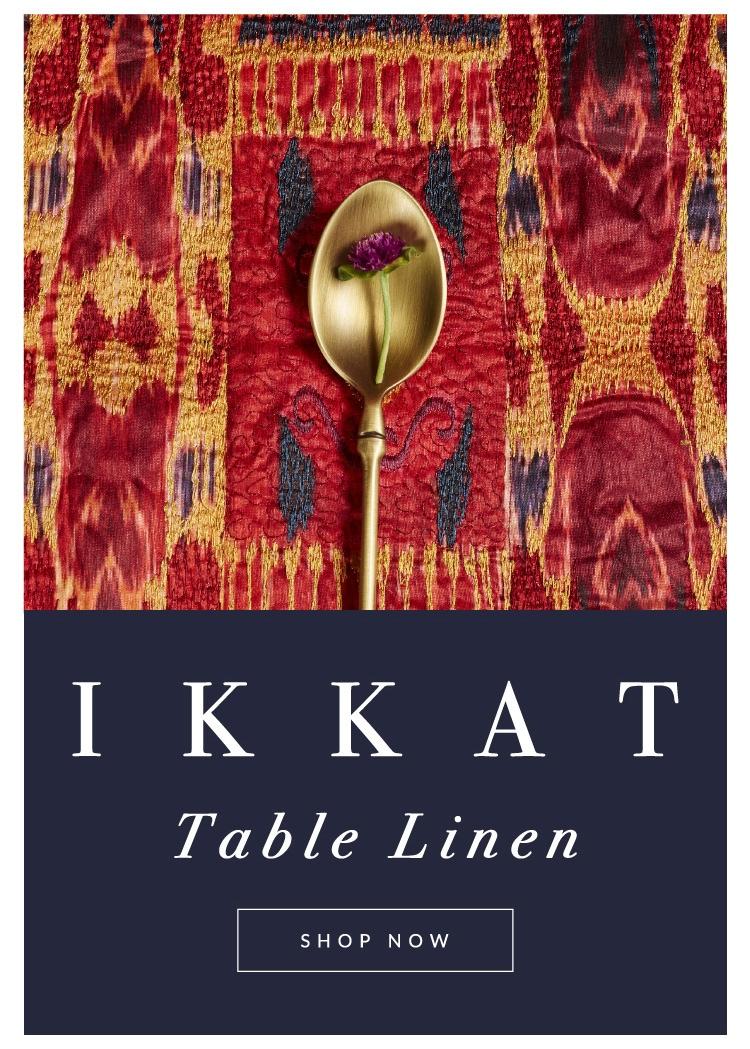 Ikkat Table linen